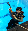 Underwater busk at Latymer Upper School